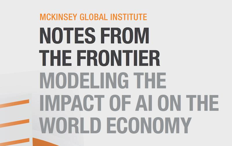 McKinsey: Economic Impact of Artificial Intelligence